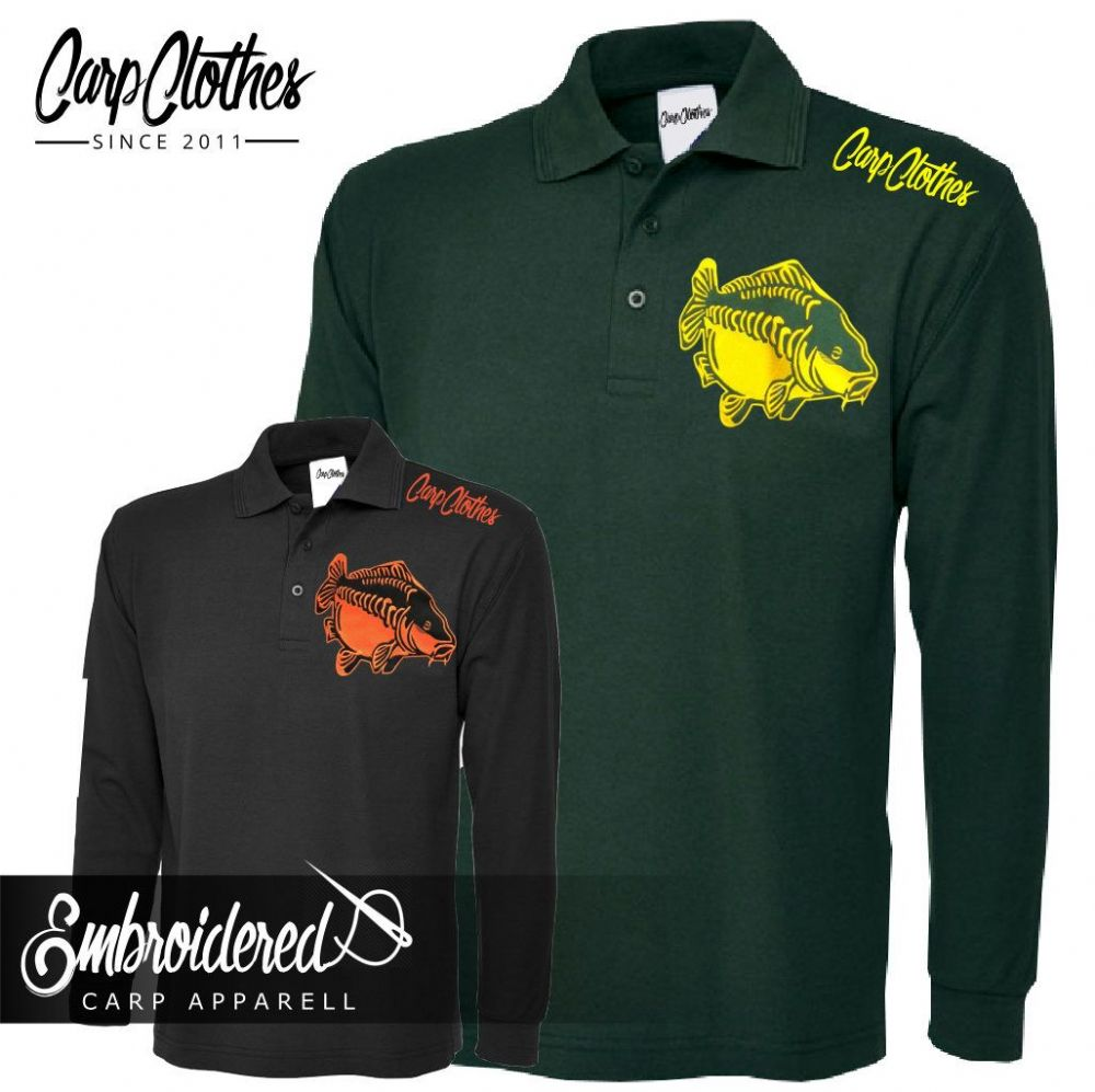 009 EMBROIDERED CARP LS POLO